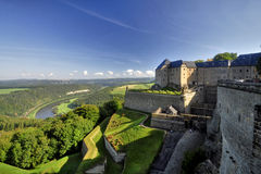 Δύναμη Königstein τοίχων Στοκ Εικόνες
