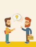 Δύο άτομα που μοιράζονται τις ιδέες απεικόνιση αποθεμάτων