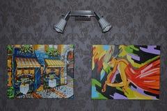 Δύο έργα ζωγραφικής Στοκ φωτογραφία με δικαίωμα ελεύθερης χρήσης