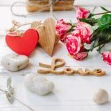 Δύο αγάπη καρδιών και μηνυμάτων Στοκ Φωτογραφία