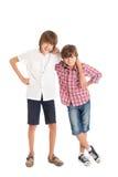 Δύο αγόρια, δύο φίλοι Στοκ εικόνες με δικαίωμα ελεύθερης χρήσης