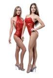 Δύο αθλητικά κορίτσια Στοκ Εικόνα