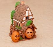 Δύο αστεία αυγά χαμόγελου  Στοκ εικόνες με δικαίωμα ελεύθερης χρήσης