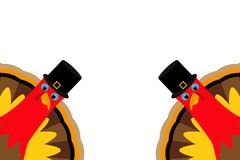 Δύο αστεία ημέρα των ευχαριστιών Τουρκία διανυσματική απεικόνιση