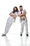 Δύο αστείοι, οκνηροί γιατροί που παίζουν τους ανόητους Στοκ εικόνα με δικαίωμα ελεύθερης χρήσης
