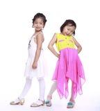 Δύο λατρευτά μικρά κορίτσια Στοκ Εικόνα