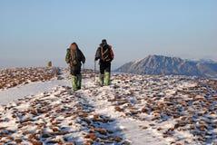 Δύο βήματα από τη σύνοδο κορυφής Στοκ Εικόνα