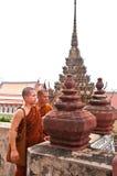Δύο βουδιστικοί μοναχοί Στοκ Φωτογραφία