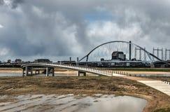 Δύο γέφυρες στο Nijmegen στοκ εικόνα με δικαίωμα ελεύθερης χρήσης