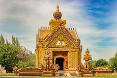 Δύο γίγαντες στο ναό στην Ταϊλάνδη στοκ εικόνες