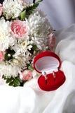 Δύο γαμήλια δαχτυλίδια Στοκ Φωτογραφία