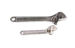 Δύο γαλλικά κλειδιά πιθήκων χάλυβα Στοκ Εικόνα
