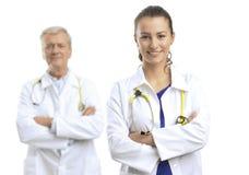 Δύο γιατροί στοκ εικόνα με δικαίωμα ελεύθερης χρήσης