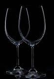 Δύο γυαλιά για το κρασί Στοκ Εικόνες