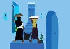 Δύο γυναίκες σε μια αλέα Στοκ Εικόνες