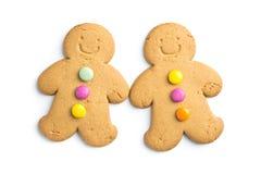 Δύο γλυκά άτομα μελοψωμάτων Στοκ Εικόνα