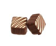 Δύο γλυκά σοκολάτας Στοκ εικόνες με δικαίωμα ελεύθερης χρήσης