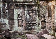 Δύο γλυπτικές σε Preah Khan Στοκ Εικόνες