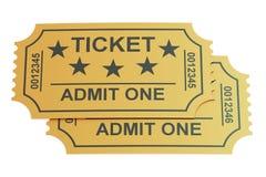 Δύο εισιτήρια, τρισδιάστατη απόδοση Στοκ Εικόνες
