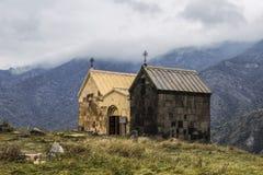 Δύο εκκλησίες Surb Nshan του μεσαιωνικού μοναστηριού Horomayr †«είναι τοποθετημένο σημείο του χωριού Odzun, περιοχή της Lori, στοκ εικόνες με δικαίωμα ελεύθερης χρήσης