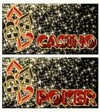 Δύο εμβλήματα πόκερ χαρτοπαικτικών λεσχών, διάνυσμα Στοκ φωτογραφία με δικαίωμα ελεύθερης χρήσης