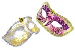 Δύο ενετικές μάσκες καρναβαλιού στοκ εικόνες με δικαίωμα ελεύθερης χρήσης