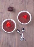 Δύο επιδόρπια σοκολάτας Στοκ Φωτογραφία