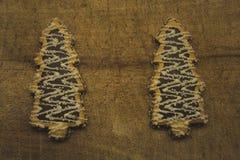 Δύο θαυμάσια νόστιμα δέντρο-διαμορφωμένα μπισκότα στοκ εικόνες με δικαίωμα ελεύθερης χρήσης