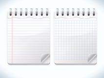 Ρεαλιστικά σημειωματάρια Στοκ εικόνα με δικαίωμα ελεύθερης χρήσης