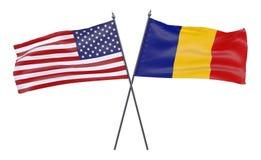 Δύο διασχισμένες σημαίες απεικόνιση αποθεμάτων