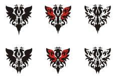 Δύο-διευθυνμένα σύμβολα αετών ελεύθερη απεικόνιση δικαιώματος