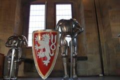 Δύο ιππότες στον πύργο Στοκ φωτογραφία με δικαίωμα ελεύθερης χρήσης