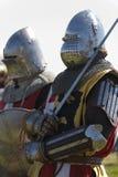 Δύο ιππότες Στοκ φωτογραφία με δικαίωμα ελεύθερης χρήσης