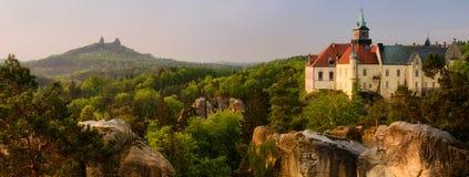 Δύο κάστρα σε Cesko στοκ φωτογραφίες