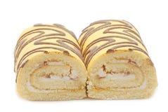 Δύο κέικ με την άσπρη κρέμα Στοκ Εικόνα