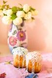 Δύο κέικ Πάσχας Στοκ Φωτογραφίες