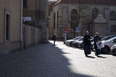 Δύο καλόγριες στην οδό Στοκ Εικόνες