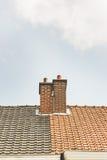 Δύο καπνοδόχοι Στοκ φωτογραφία με δικαίωμα ελεύθερης χρήσης