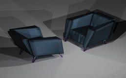 Δύο καρέκλες σοφιτών στοκ φωτογραφίες με δικαίωμα ελεύθερης χρήσης