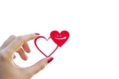 Δύο καρδιές και χαμόγελο στοκ φωτογραφία με δικαίωμα ελεύθερης χρήσης