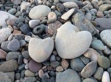 Δύο καρδιές πετρών Στοκ Φωτογραφία