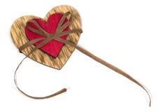 Δύο καρδιές που συνδέονται από ένα νήμα στοκ εικόνα