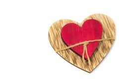 Δύο καρδιές που συνδέονται από ένα νήμα στοκ εικόνες με δικαίωμα ελεύθερης χρήσης