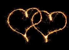 Δύο καρδιές Στοκ εικόνα με δικαίωμα ελεύθερης χρήσης