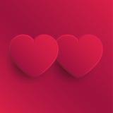 Δύο καρδιές - απεικόνιση ημέρας του βαλεντίνου Στοκ εικόνα με δικαίωμα ελεύθερης χρήσης