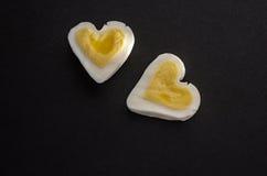 Δύο καρδιές αυγών Στοκ φωτογραφίες με δικαίωμα ελεύθερης χρήσης
