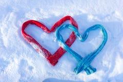 Δύο καρδιές Στοκ φωτογραφίες με δικαίωμα ελεύθερης χρήσης