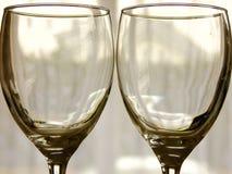 Δύο κενά γυαλιά στοκ φωτογραφία με δικαίωμα ελεύθερης χρήσης