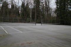 Δύο κενά δίπλα-δίπλα γήπεδα αντισφαίρισης στοκ εικόνα με δικαίωμα ελεύθερης χρήσης