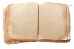 Δύο κενές σελίδες στο αρχαίο βιβλίο Στοκ Φωτογραφία